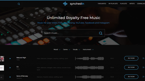 Synchedin – Music for All Creators – Unlimited Music for Your Videos